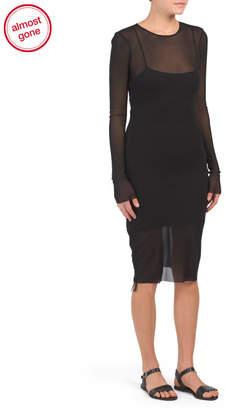 Mesh Cover-up Mini Dress