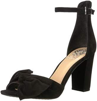 Vince Camuto Women's CARRELEN Heeled Sandal, Silver/Grey