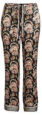Oscar de la Renta Sleepwear Women's Floral Print Pajama Pants