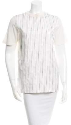 MAISON KITSUNÉ Striped Wool Top