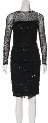 Tadashi Shoji Embellished Mesh Dress w/ Tags