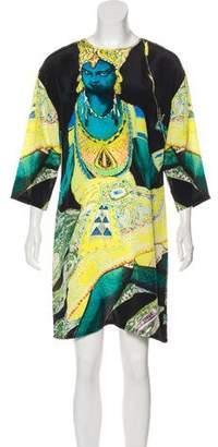 Figue Printed Silk Mini Dress