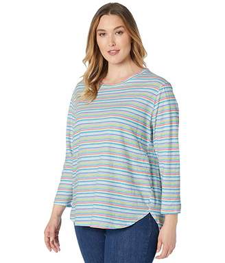 Fresh Produce Extra Fresh by Plus Size Promenade Stripe Catalina Top
