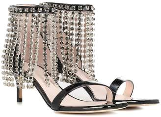 Christopher Kane Crystal Fringe leather sandals