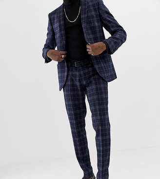 Heart N Dagger slim fit wool mix suit pants in navy