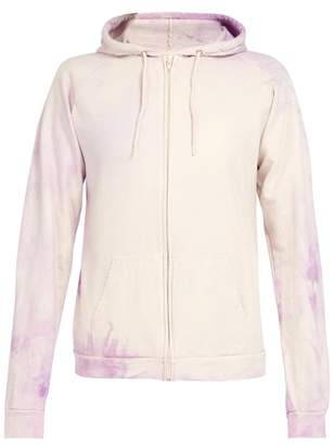 Audrey Louise Reynolds - Tie Dye Hooded Cotton Sweatshirt - Mens - Purple
