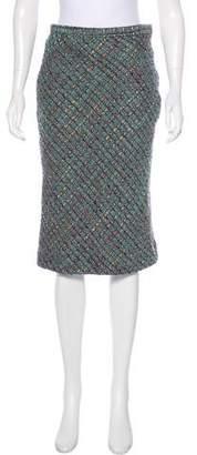 Dolce & Gabbana Virgin Wool Tweed Skirt