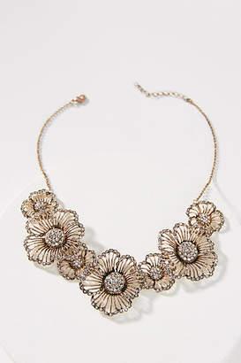 Azaara Crystal Flower Bib Necklace