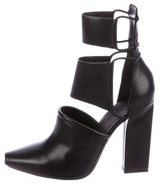 Alexander Wang Leather Multistrap Ankle Boots