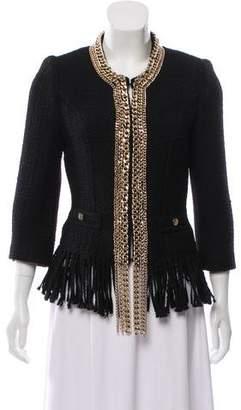 Elisabetta Franchi Wool-Blend Tweed Jacket
