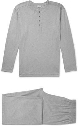 Zimmerli Mélange Cotton-Jersey Pyjama Set