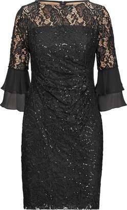 Ralph Lauren Sheer-Yoke Lace Dress