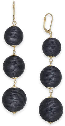 INC International Concepts I.n.c. Gold-Tone Wrapped Ball Triple Drop Earrings, Created for Macy's