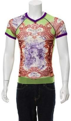 Jean Paul Gaultier V-Neck Graphic Shirt