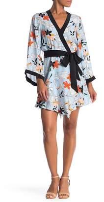 Parker Zia Floral Print Combo Silk Dress