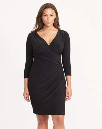 Ralph Lauren Faux-Wrap Jersey Dress