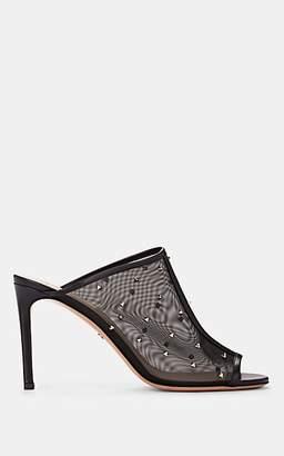 Valentino Women's Studded Mesh & Leather Mules - Black