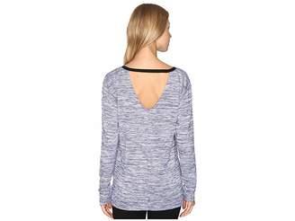 Calvin Klein Jeans Marl Long Sleeve V-Back Tee Women's T Shirt
