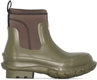 Stella McCartney X Hunter olive green chunky rubber rain boots