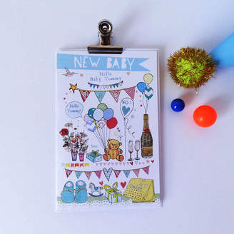 story. Alice Palace Personalised New Baby Card