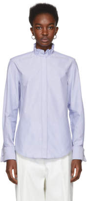 Protagonist Blue Pleated Collar Shirt