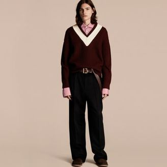 Burberry Sports-striped Wool Sweater $895 thestylecure.com