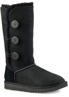 UGG Classic Bailey Button Triplet II Leather Winter Boots