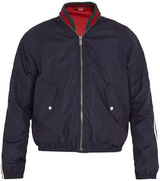 Gucci Web-detail nylon bomber jacket