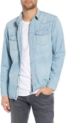 Treasure & Bond Regular Fit Western Denim Sport Shirt