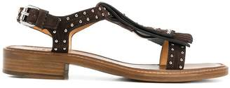 Church's fringed studded sandals
