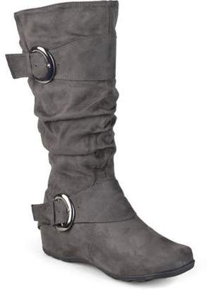 Co Brinley Women's Extra Wide Calf Mid-Calf Slouch Riding Boots