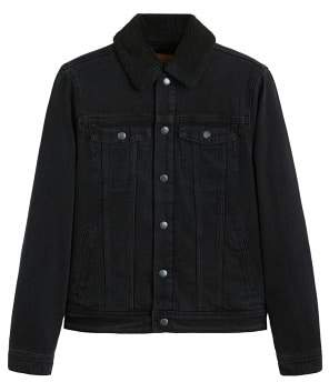 Mango Man MANGO MAN Faux shearling-lined denim jacket