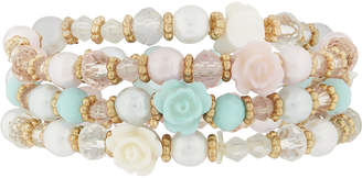Monsoon 3X Pretty Rose Bead Bracelets