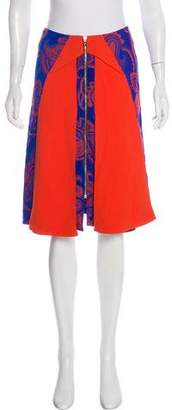 Roland Mouret 2016 Clerges Silk-Blend Skirt w/ Tags