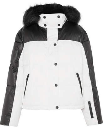 Topshop Sno - Siren Hooded Faux Fur-trimmed Ski Jacket - White
