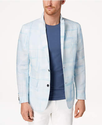 INC International Concepts I.n.c. Men's Slim-Fit Abstract Windowpane Blazer, Created for Macy's