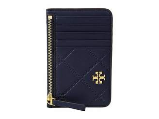Tory Burch Georgia Top-Zip Card Case