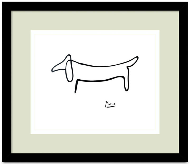 'Le Chien (The Dog)' Framed Art by Pablo Picasso