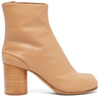 Maison Margiela Tabi Split Toe Leather Ankle Boots - Womens - Nude