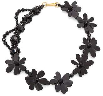Simone Rocha Crystal Bead And Floral Necklace - Womens - Black