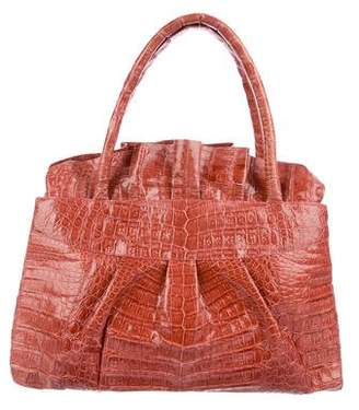 Nancy Gonzalez Pleated Crocodile Satchel