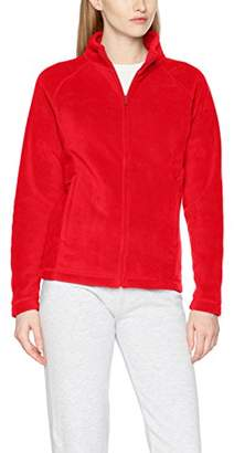 Fruit of the Loom Women's Full Zip Fleece Jacket Lady-Fit Cardigan,XL