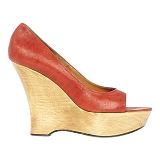 Lanvin Red Leather Heels