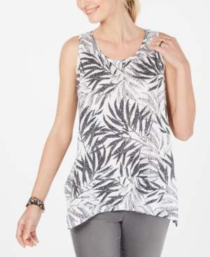 Style&Co. Style & Co Printed Scoop-Neck Swing Top, Created for Macy's