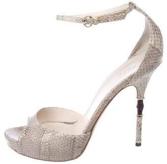 Gucci Snakeskin High-Heel Sandals
