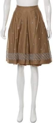 Prada Embellished Pleated Skirt