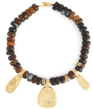 Joelle Gagnard Kharrat - Cactus Gold Plated Necklace - Womens - Brown