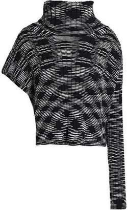 M Missoni Asymmetric Marled Cotton-Blend Sweater