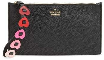 Kate Spade New York Yours Truly Ariah Leather Wristlet