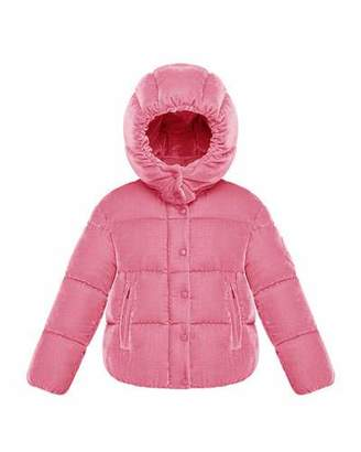 Moncler Caille Hooded Jacket, Size 4-6